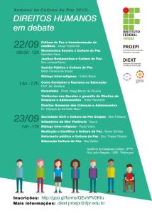 Cartaz PROGRAMAÇÃO - Direitos Humanos em Debate 2015